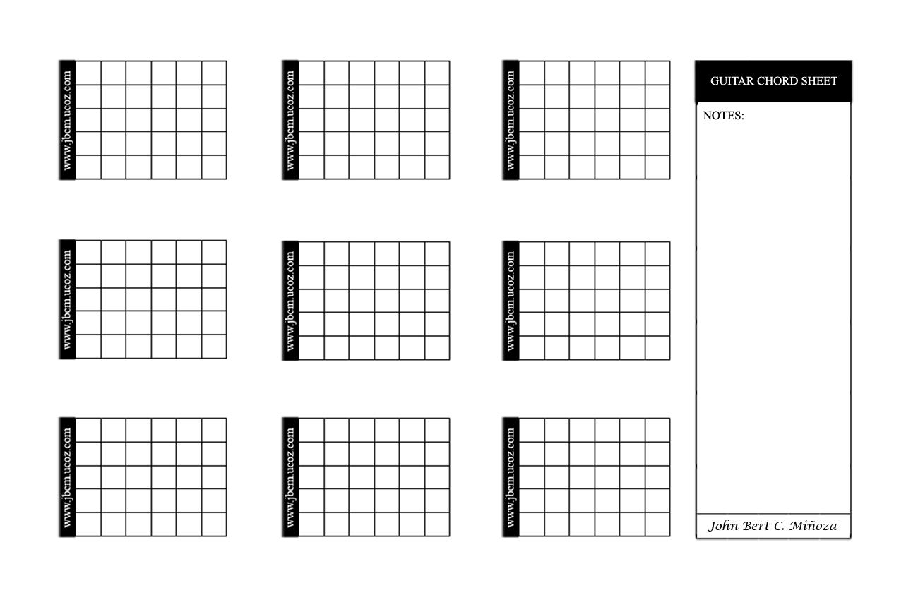 Pics Photos - Blank Guitar Chord Sheet